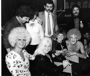 Diana Dors and the Trollettes at a charity fundraising event at the RVT