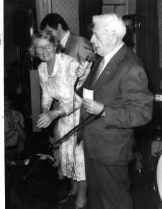 Barbara Wodehouse at a charity fundraising event at the RVT