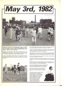Programme for the first sports day, 1982