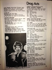 Time Out drag listings from 1969
