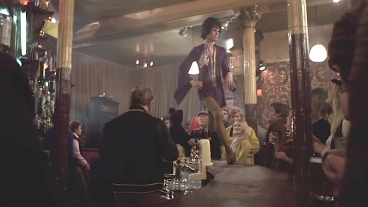 A scene from the 1970 film Goodbye Gemini