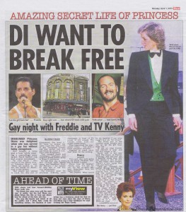 The Sun reports on Princess Diana visit