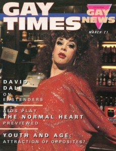 David Dale on the cover of Gay Times