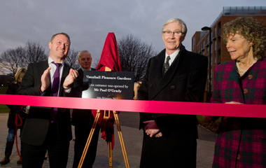 Paul O'Grady opening the Vauxhall Pleasure Gardens, February 2012.