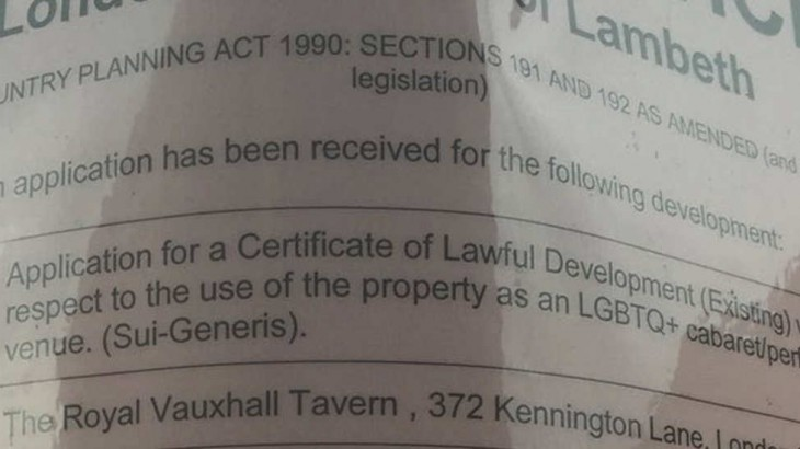 The application notice for granting sui generis status to the RVT.